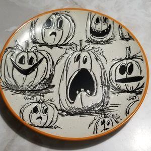 """inHomestylez Pumpkin Happy Halloween 8"""" Dish"""